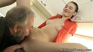 Elderly heads youthful - Katia is a youthful and sensual nymph