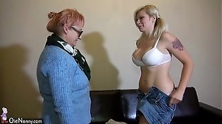 ElderlyNanny youthful and elderly all girl duo jerk with sextoy