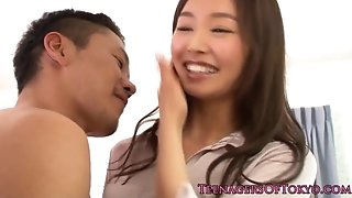 Ultra-cute japanese teen babe with tiny funbags romping