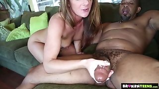 BrokenTeens - tiny pink sphincter Vs phat dark-hued shaft