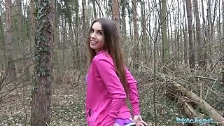 Public Agent gorgeous jogger humped in the woods