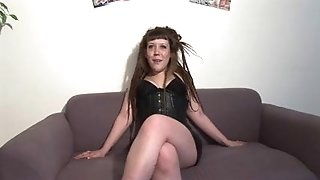 French tramp A40 audition 20 ans double penetration 3 way