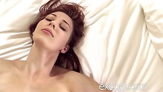 Humungous jug ginger-haired Lactating youthfull mother ejaculations in porno Debut