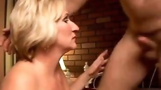Handsome milf likes to give a dirty rimjob