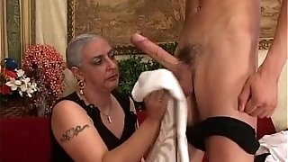 Grandmother luvs humungous spear