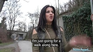 Public Agent Outdoor orgasms for Serbian cutie
