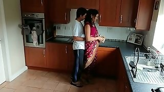 Crimson saree Bhabhi caught observing porno seduced and drilled by Devar filthy hindi audio desi chudai leaked scandal sextape bollywood point of view