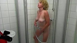 Spy-Cam demonstrates showering