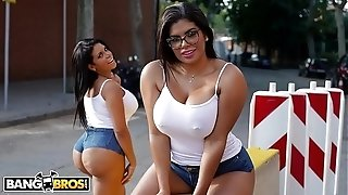 BANGBROS - Kesha & Sheila Ortega's immense booties Getting drilled By Potro De Bilbao