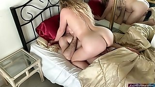 Stepmom has orgy with stepson to get him prepared for college - Erin Electra