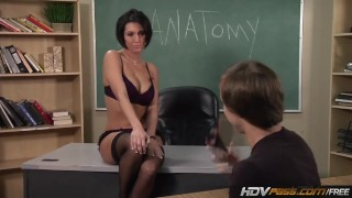 Wonderful mommy babe Dylan Ryder lets school gal penetrate her HD