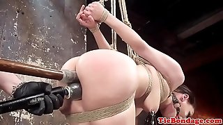 Limited restrain bondage gimp frigged by male domination