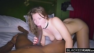 BLACKEDRAW girlfriend cheats with the fattest pipe she's EVER seen!