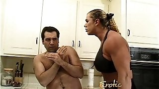 Angry mistress with yam-sized muscles hurts her hubby truly bad-6